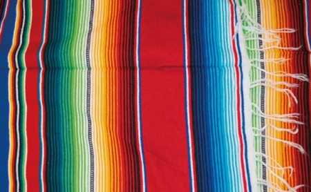 Mexico Teppe Serape Red