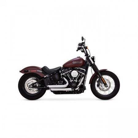 V&H Shortshots Staggered - Chrome - Softail