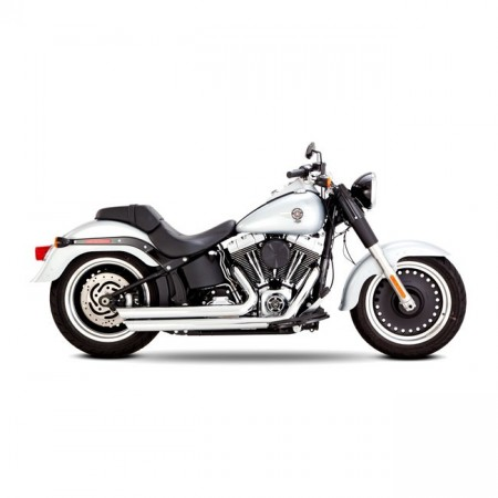 V&H Big Shots Staggered - Chrome - Softail