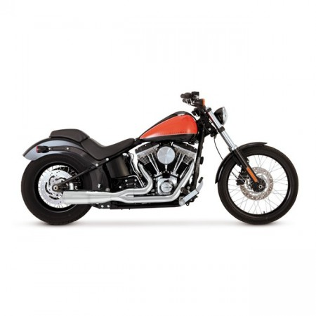 V&H Hi-Output 2-1 Short - Chrome - Softail