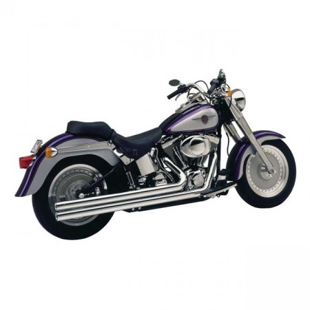 V&H Big Shots Long - Chrome - Softail